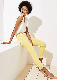 LOFT Slim Pocket Skinny Crop Jeans in Yellow