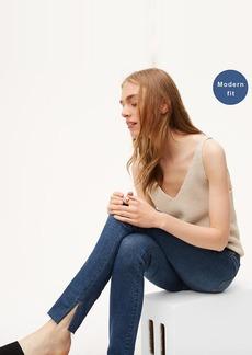 Modern Slit Fresh Cut Skinny Jeans in Vivid Dark Indigo Wash