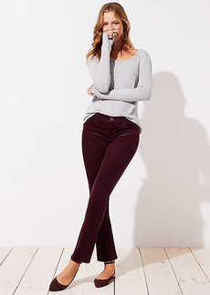LOFT Modern Straight Leg Corduroy Pants