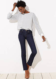 LOFT Straight Leg Jeans in Dark Rinse Wash