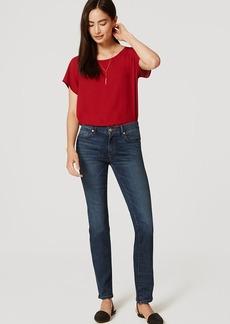 LOFT Modern Straight Leg Jeans in Medium Faded Wash