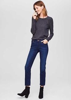 Modern Fresh Cut Straight Crop Jeans in Vivid Dark Indigo Wash