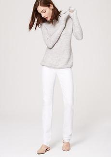 LOFT Modern Straight Leg Jeans in White
