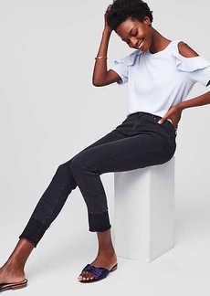 LOFT Modern Unpicked Skinny Jeans in Black
