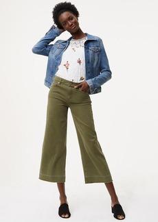 Modern Unpicked Wide Leg Crop Jeans in Aged Moss