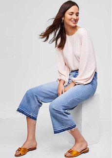 Modern Wide Leg Crop Jeans in Classic Mid Indigo Wash