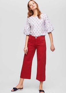 LOFT Modern Wide Leg Crop Jeans in Zesty Red