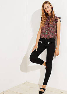 LOFT Modern Zip Skinny Jeans in Black