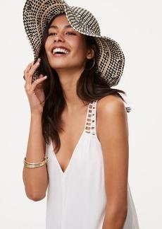 LOFT Monochrome Straw Hat
