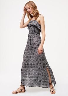 LOFT Mosaic Pom Pom Maxi Dress