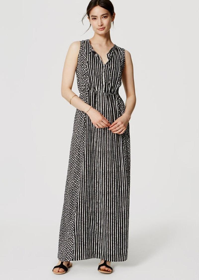 LOFT Mosaic Stripe Maxi Dress