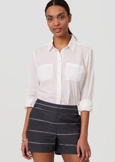 LOFT Mosaic Stripe Shorts