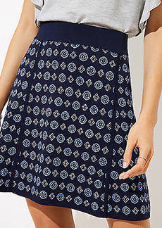 LOFT Mosaic Sweater Flippy Skirt