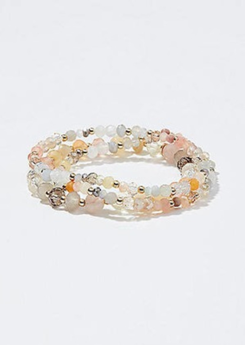 LOFT Multicolored Beaded Stretch Bracelet Set