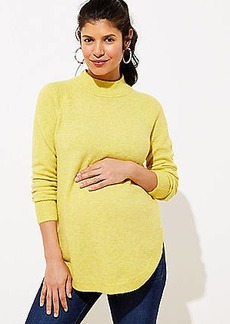 LOFT Multicolored Mock Neck Tunic Sweater