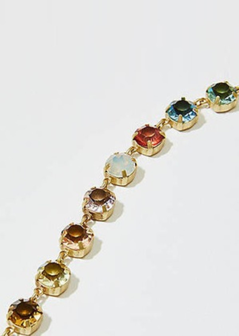LOFT Multicolored Stone Statement Necklace