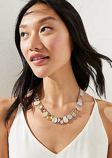 LOFT Multicolored Teardrop Statement Necklace