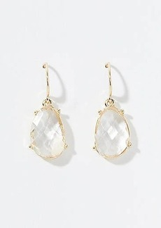 LOFT Multifaceted Stone Drop Earrings