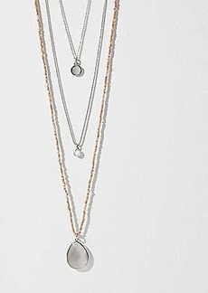 LOFT Multistrand Beaded Chain Pendant Necklace