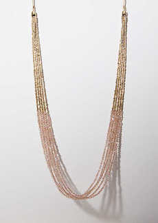 LOFT Multistrand Beaded Slider Necklace