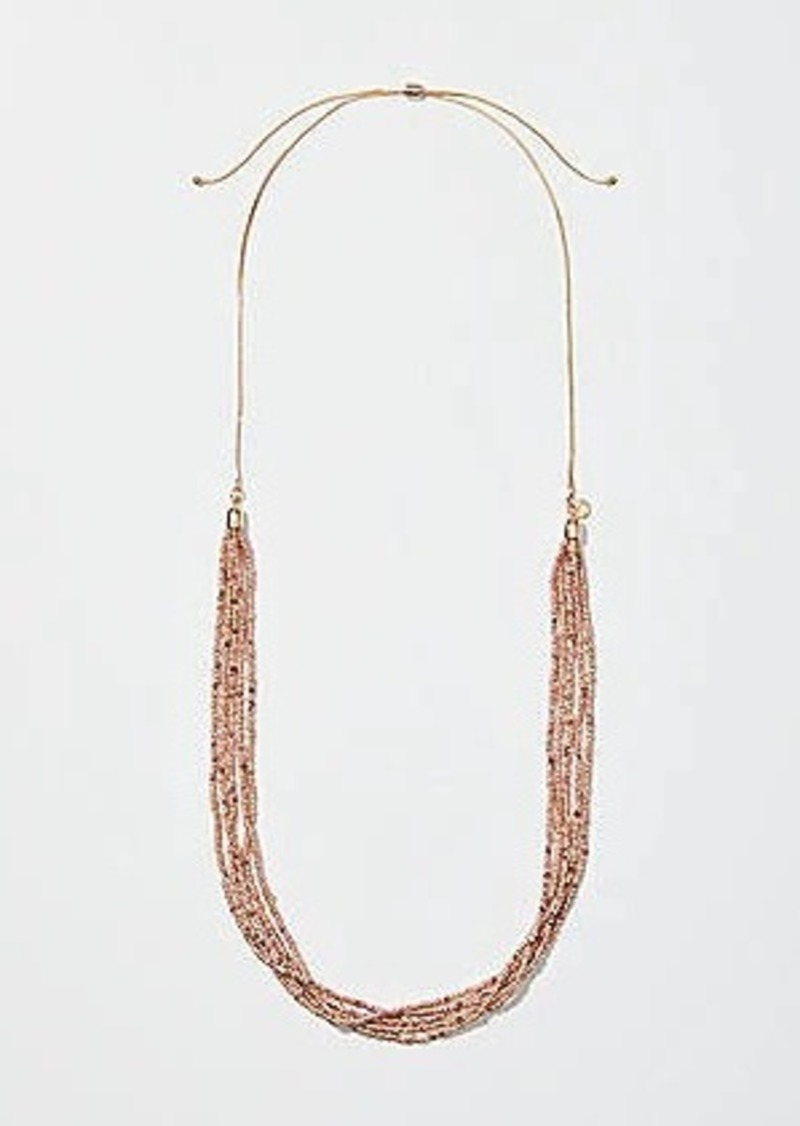 LOFT Multistrand Beaded Slider Necklace