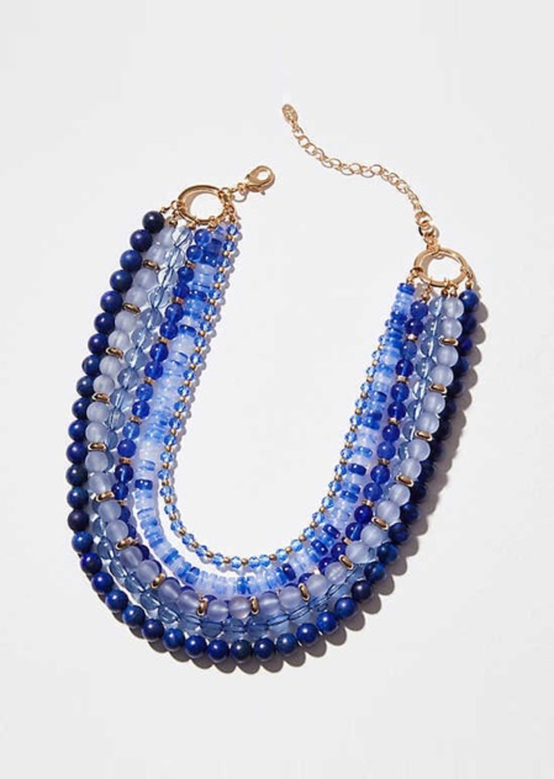 LOFT Multistrand Beaded Statement Necklace