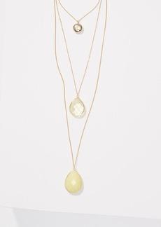 LOFT Multistrand Drop Pendant Necklace