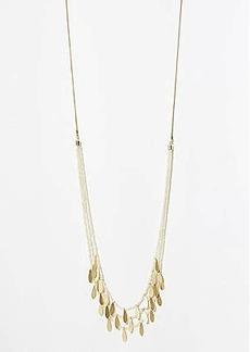LOFT Multistrand Leaf Slider Necklace