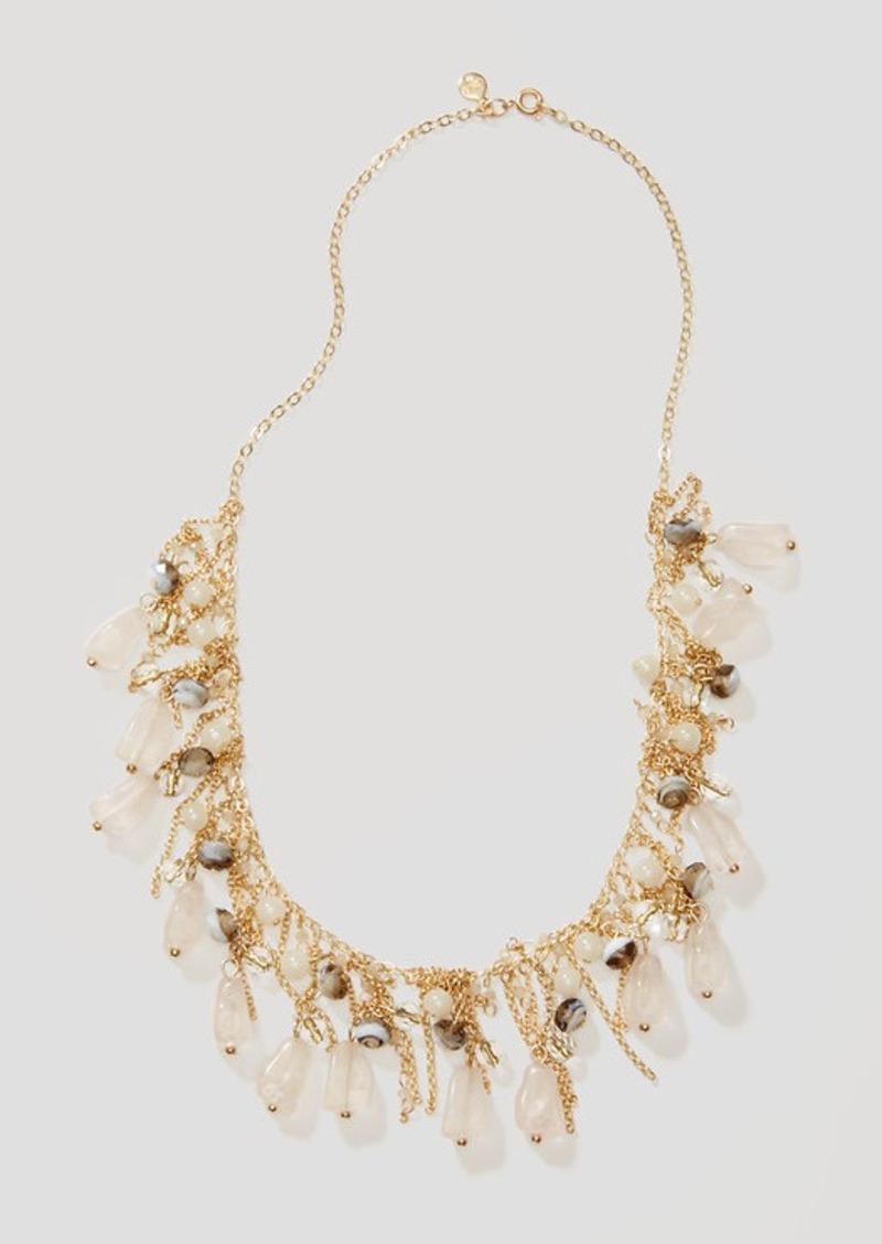 LOFT Mystic Stone Fringe Necklace