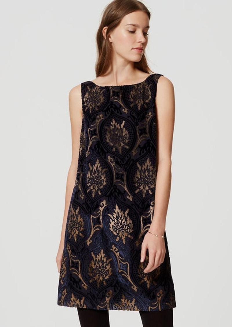 LOFT Mystic Velvet Swing Dress | Dresses