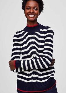LOFT Nautical Cable Sweater