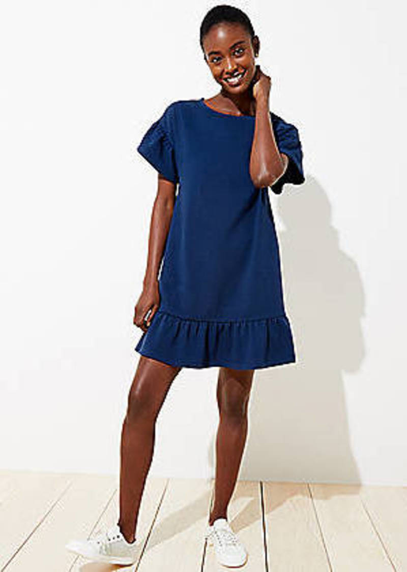LOFT Flounce Pocket Tee Dress
