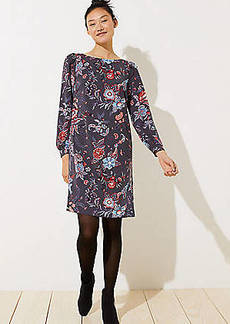 LOFT Nouveau Garden Cuffed Shirtdress