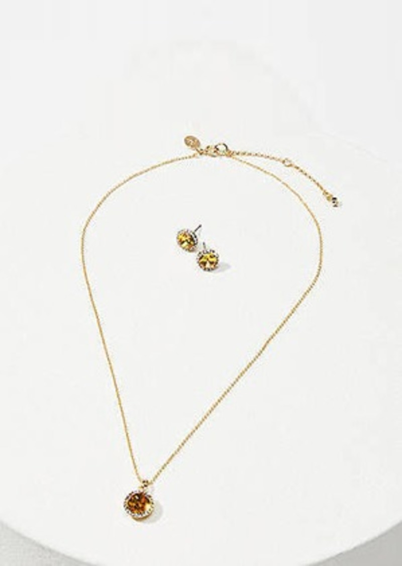 LOFT November Birthstone Earring & Necklace Set