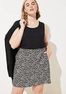 LOFT Plus Leopard Print Shift Skirt
