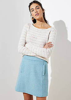 LOFT Wooly Pocket Shift Skirt
