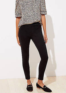 LOFT Soft Denim Pull On Leggings in Black