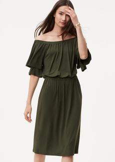 Off The Shoulder Blouson Dress