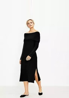 LOFT Off The Shoulder Midi Dress