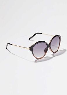 LOFT Ombre Oversized Round Sunglasses