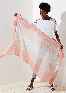 LOFT Ombre Striped Scarf
