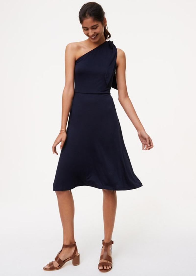 LOFT One Shoulder Flare Dress | Dresses