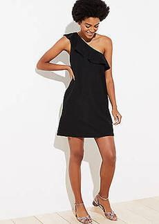 LOFT One Shoulder Pocket Dress