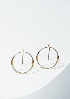 LOFT Open Circle Drop Earrings