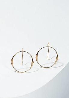 LOFT Open Circle Drop Earrings