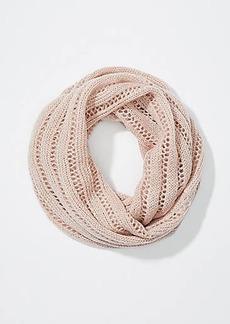 LOFT Open Knit Stripe Infinity Scarf