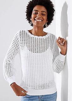 LOFT Open Stitch Sweater
