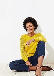 LOFT Open Stitched Sleeve Sweater