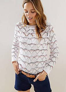 LOFT Open Stitched Sweater