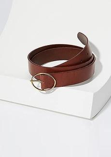 LOFT Oval Buckle Leather Belt